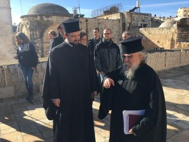 Wir wurden durch das Patriarchat von Jerusalem geführt.